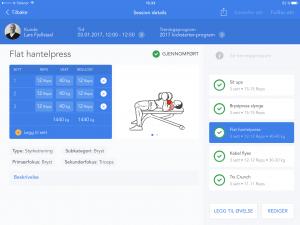 PT Flow treningsprogram i appen